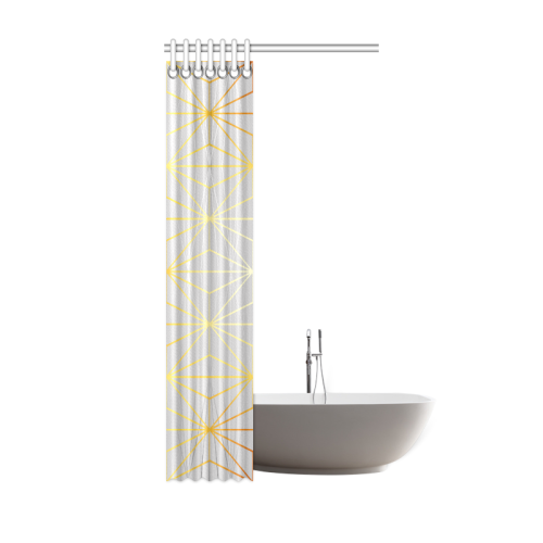 "ELEGANT SILVER GOLD DIAMONDS-1SC6 Shower Curtain 36""x72"""