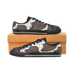 zapatos de niño con un diseño divertido de gorros Low Top Canvas Shoes for Kid (Model 018)