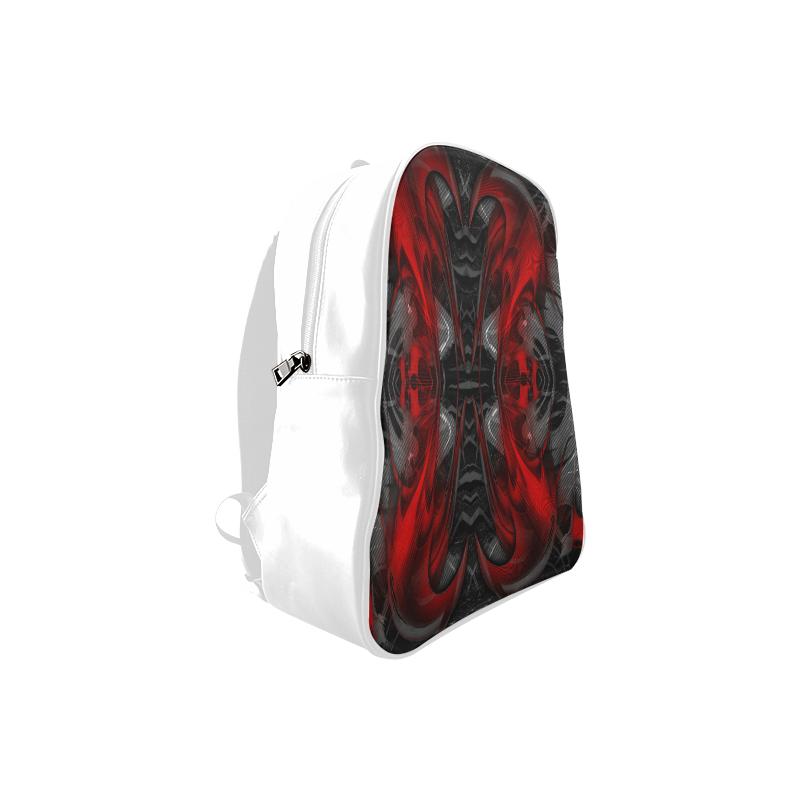 xxsml Red Rave Crew School Backpack/Large (Model 1601)