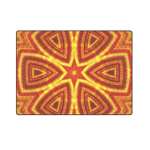 """red and gold kaleidoscope Blanket 58""""x80"""""""