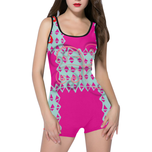 Crisscross Classic One Piece Swimwear (Model S03)