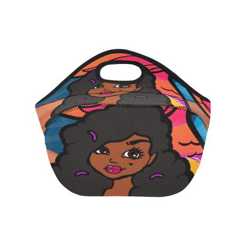 Little Black Mermaid Small Lunch Bag 1 Neoprene Lunch Bag/Small (Model 1669)