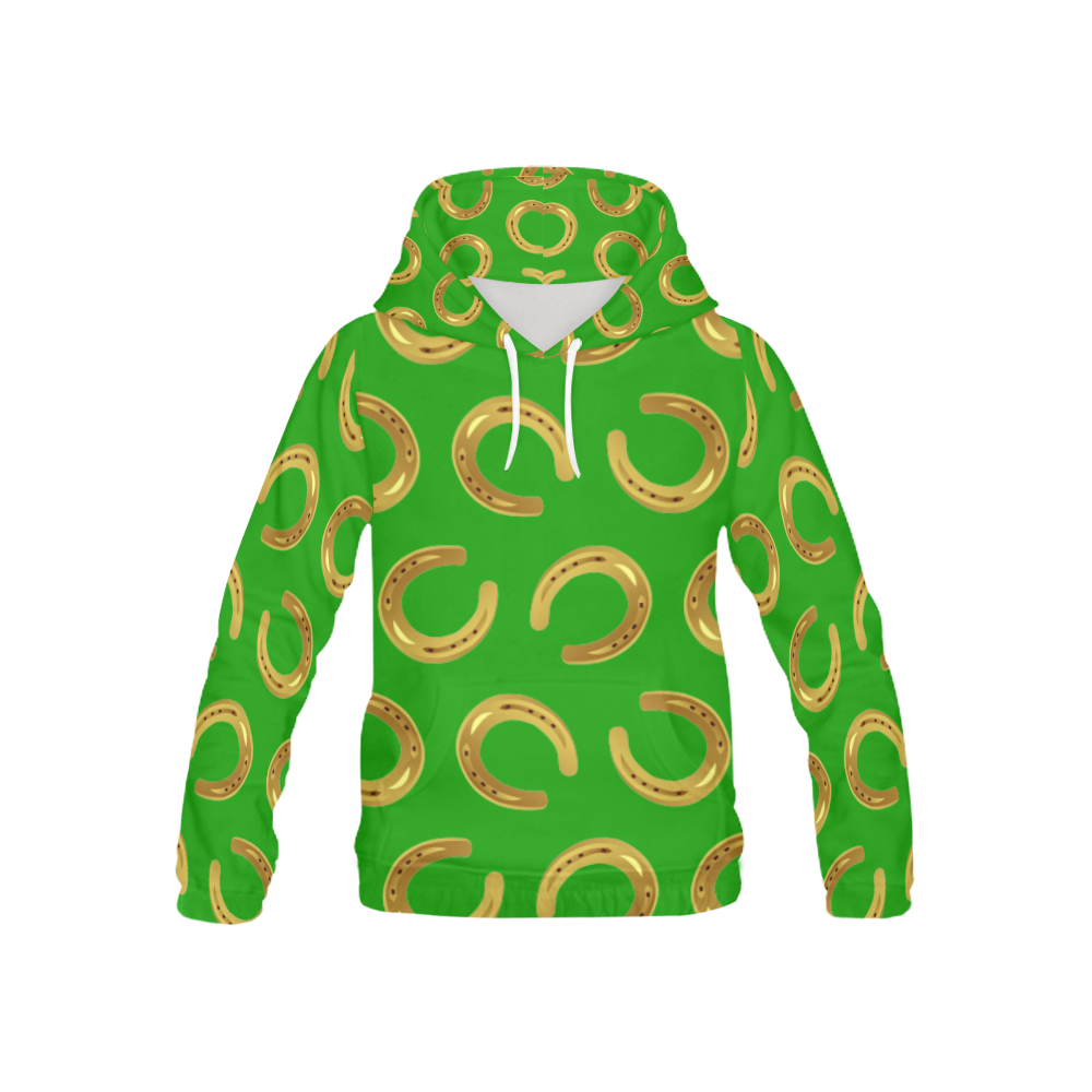 Golden horseshoe All Over Print Hoodie for Kid (USA Size) (Model H13)