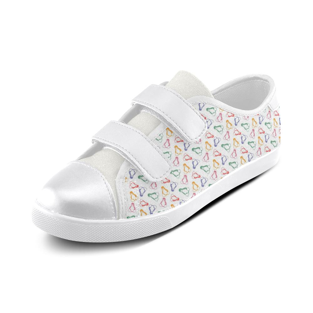 Penguin Love Velcro Canvas Kid's Shoes (Model 008)