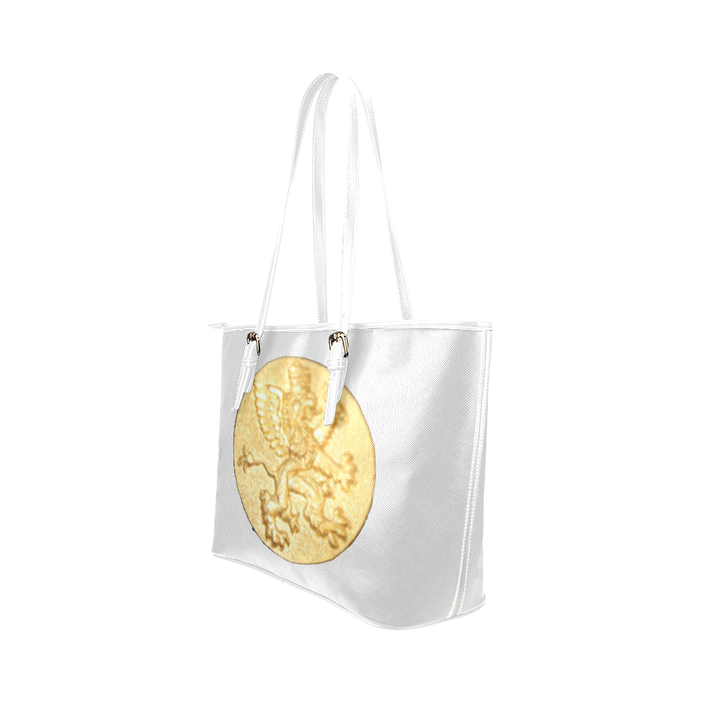 Intanjibles (alt) Logo Leather Tote Bag/Small (Model 1651)