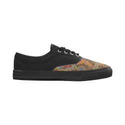 Luxury Abstract Design Aries Men's Canvas Shoes (Model 029)