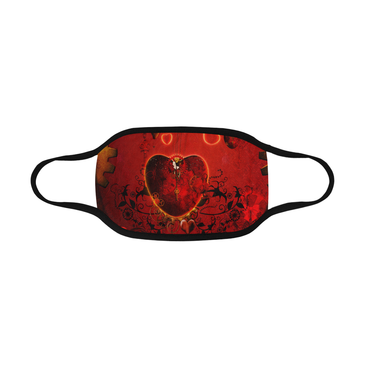 Flying hearts Mouth Mask