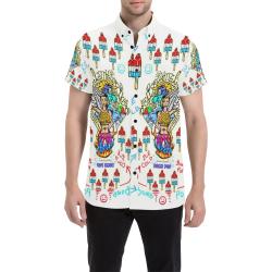 The Bomb Pops Men's All Over Print Short Sleeve Shirt (Model T53)