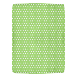 "Polka Dot Pin Lime - Jera Nour Ultra-Soft Micro Fleece Blanket 60""x80"""
