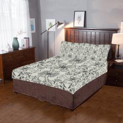 Grey lilies 3-Piece Bedding Set