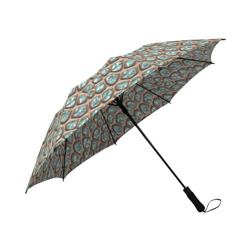 Green crystals Semi-Automatic Foldable Umbrella (Model U05)