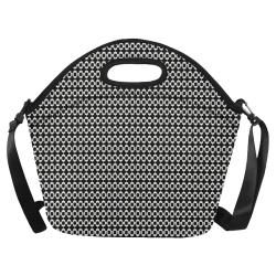Black White Mod Stripe Neoprene Lunch Bag/Large (Model 1669)