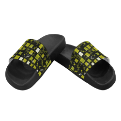 small geo fun F by JamColors Men's Slide Sandals (Model 057)