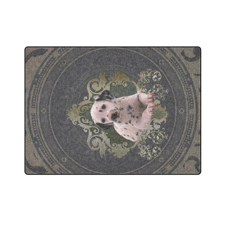 "Cute dalmatian Blanket 58""x80"""