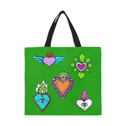 SACRED HEART - EX VOTO - Rainbow All Over Print Canvas Tote Bag/Large (Model 1699)