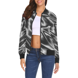 SMOKE by Pattern Art Originals All Over Print Bomber Jacket for Women (Model H19)