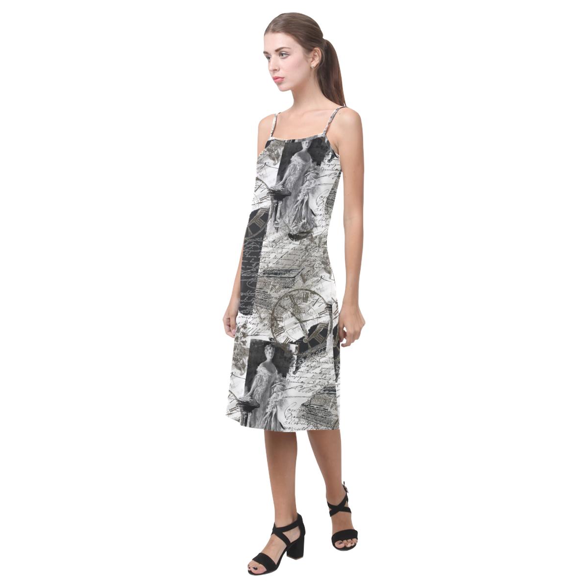 Old letters Alcestis Slip Dress (Model D05)