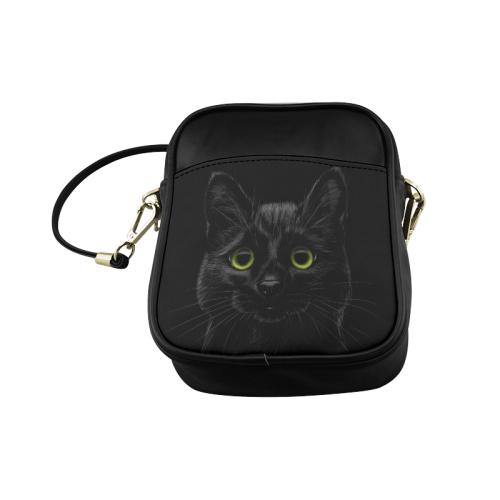Black Cat Sling Bag (Model 1627)