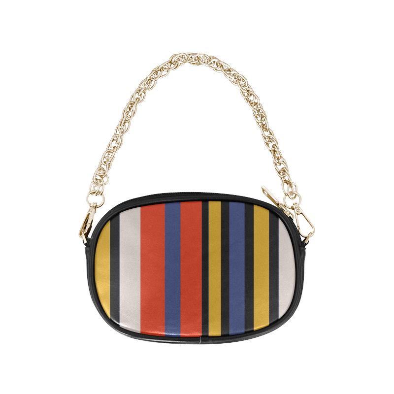Elegant Stripes Chain Purse (Model 1626)