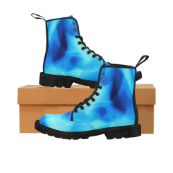 new blue Martin Boots for Women (Black) (Model 1203H)