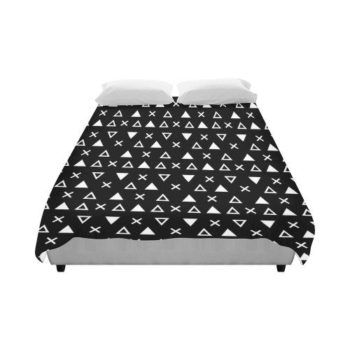 """Geo Line Triangle Duvet Cover 86""""x70"""" ( All-over-print)"""