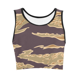 Trendy Camo Crop Top Women's Crop Top (Model T42)