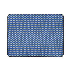 """Chevron Jaune/Bleu Beach Mat 78""""x 60"""""""
