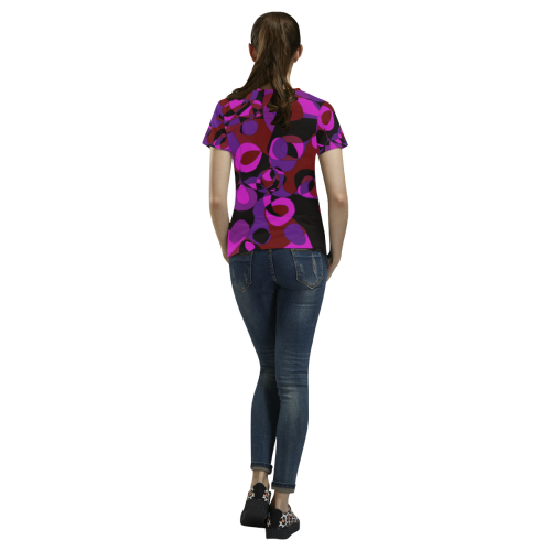 Abstract #18 All Over Print T-Shirt for Women (USA Size) (Model T40)