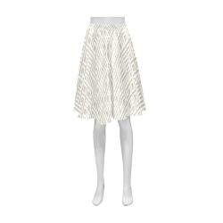 White 3D Geometric Pattern Athena Women's Short Skirt (Model D15)