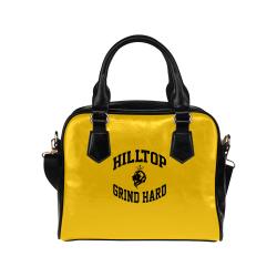 HillTop Grind Hard Yellow Purse Shoulder Handbag (Model 1634)
