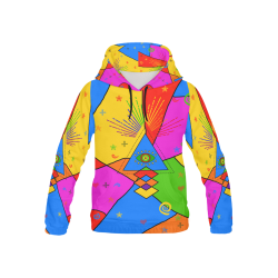 All Seeing Eye Popart All Over Print Hoodie for Kid (USA Size) (Model H13)
