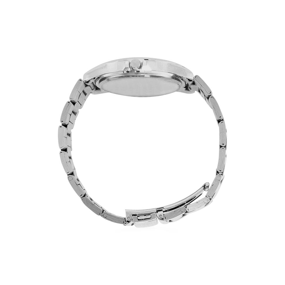 Friends Not Food (Go Vegan) Unisex Stainless Steel Watch(Model 103)