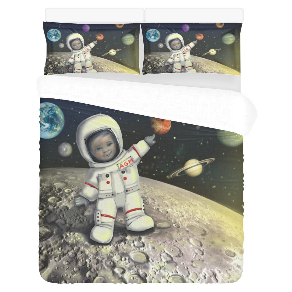 Anaiah's Space Bed Set 3-Piece Bedding Set