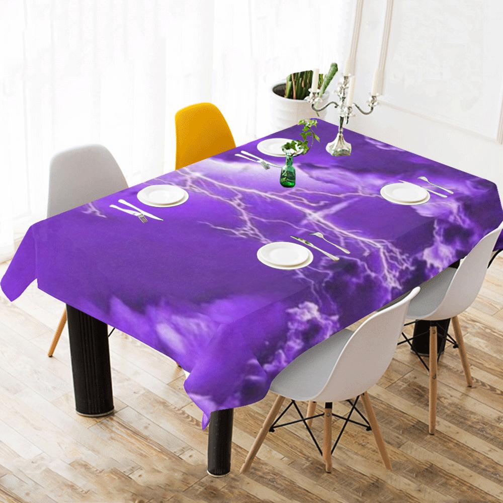 """Thunder spark Cotton Linen Tablecloth 60""""x120"""""""