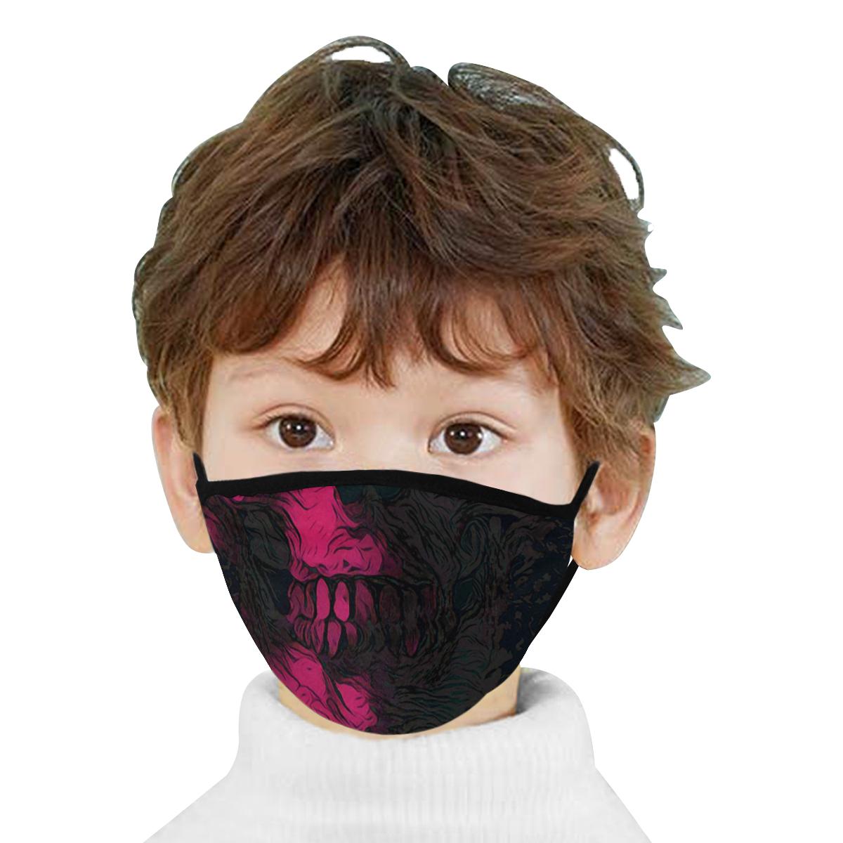 SKULL PINK BLACK MASK Mouth Mask
