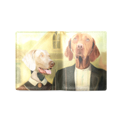 Dog's gothic Men's Leather Wallet (Model 1612)