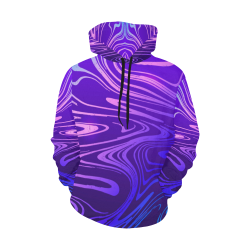 Abstract Purple All Over Print Hoodie for Women (USA Size) (Model H13)
