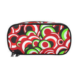 retro pattern 1973C by JamColors Pencil Pouch/Large (Model 1680)