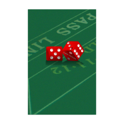 "Las Vegas Dice on Craps Table Poster 22""x34"""