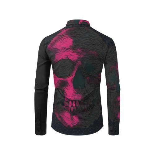SKULL ART MODERN FASHION Men's All Over Print Casual Dress Shirt (Model T61)