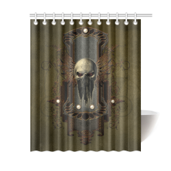 "Awesome dark skull Shower Curtain 60""x72"""
