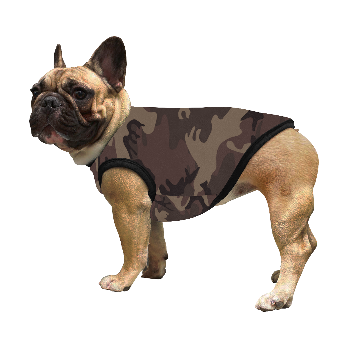 Camo Red Brown All Over Print Pet Tank Top