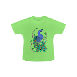 Pretty Peacock Green Baby Classic T-Shirt (Model T30)