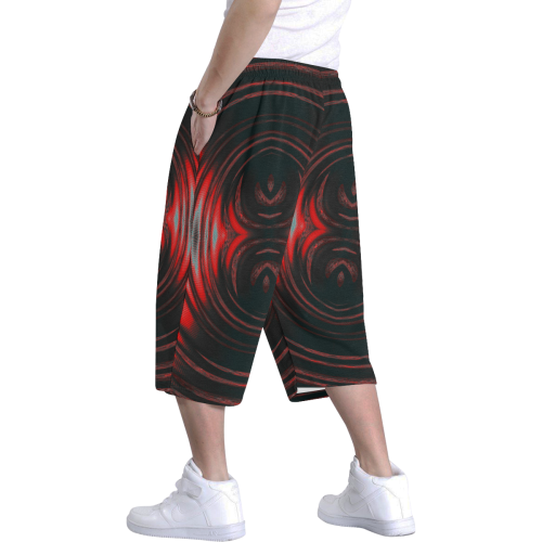 5000TRYtwo2 106 dEEP mONSTER  8 25 A sml Men's All Over Print Baggy Shorts (Model L37)