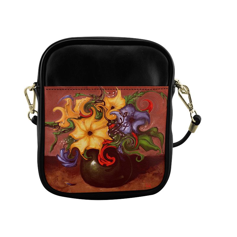 Dancing Flowers Sling Bag (Model 1627)