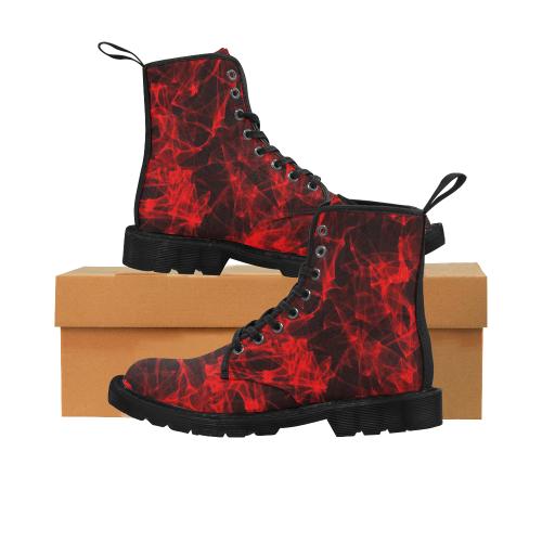 lava flames Martin Boots for Men (Black) (Model 1203H)