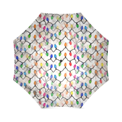 Christmas Lights by Nico Bielow Foldable Umbrella (Model U01)