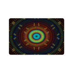 """aum kaleidoscope Doormat 24""""x16"""""""