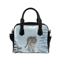 Wonderful siberian tiger Shoulder Handbag (Model 1634)
