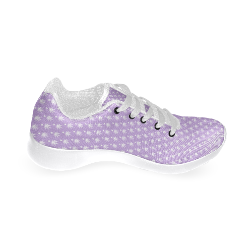 Dotted Purple Cannabis by Jera Nour Women's Running Shoes/Large Size (Model 020)